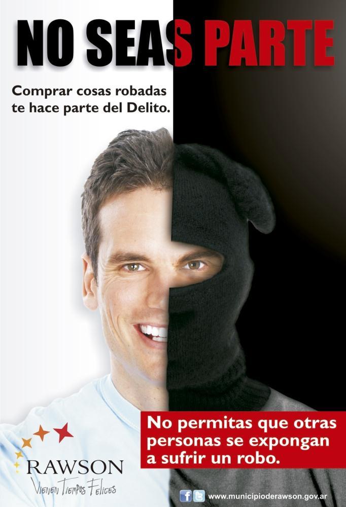 f94d84191d En Rawson lanzaron la campaña No seas parte para combatir la compra de  artículos robados