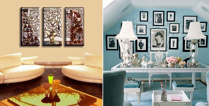C mo decorar con piezas de arte y no fracasar en el - Como decorar una pared con cuadros ...