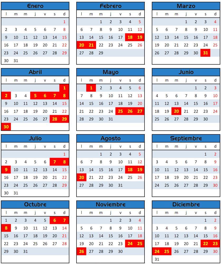 Sepa c ales son los feriados del 2014 for Ministerio del interior argentina direccion