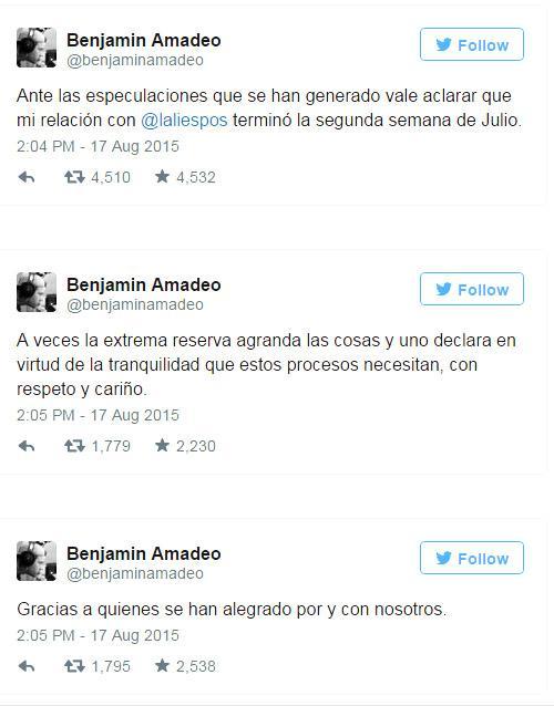Lali Esposito Y Benjamin Amadeo 2015