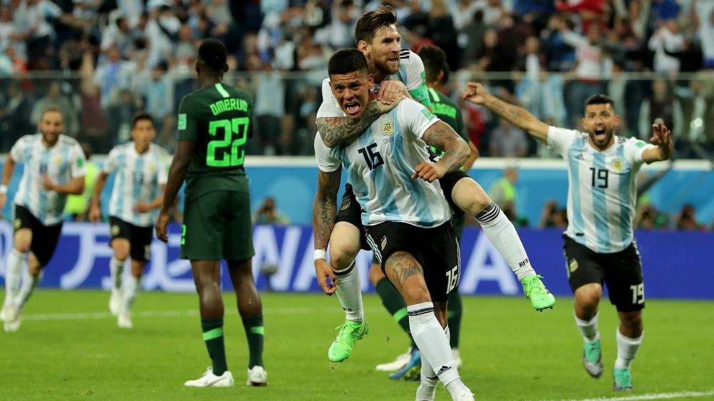 En un final para el infarto, Rojo le dio la victoria a Argentina y ...